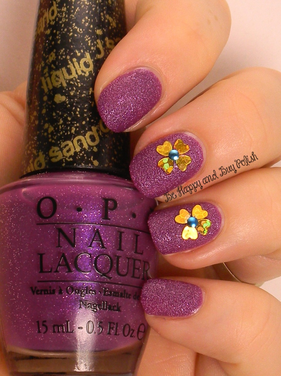 OMD2 Nail Art Challenge 3D Flowers   OPI My Current Crush   Be Happy And Buy Polish