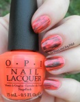 OMD2 Nail Art Challenge: Coral | OPI Down At the Core-al, 4 In the Morning | Be Happy And Buy Polish
