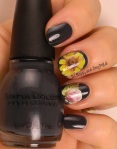 OMD2 Nail Art Challenge Dark | Sinful Colors Ardoise | Be Happy And Buy Polish