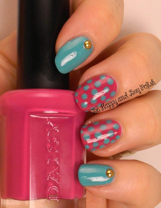 OMD2 Nail Art Dotticure | Daisy Island Oasis, Bright Maroon | Be Happy And Buy Polish