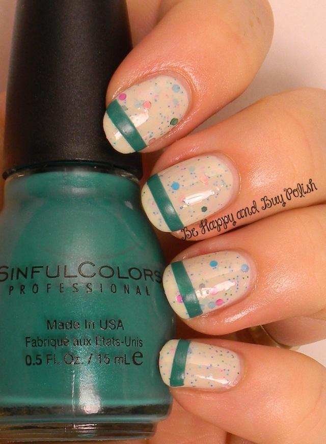 OMD2 Nail Art Challenge Funky French | A Girl Obsessed Berry Mojito, Sinful Colors Rise & Shine | Be Happy and Buy Polish