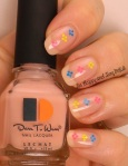 OMD2 Glitter Placement Nail Art | Le Chat Dare to Wear Pink Ribbon | Be Happy And Buy Polish