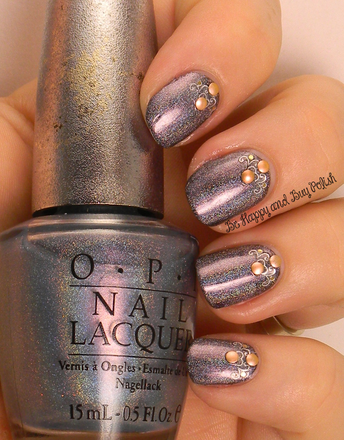 Omd2 Nail Art Challenge Holographic Be Happy And Buy Polish
