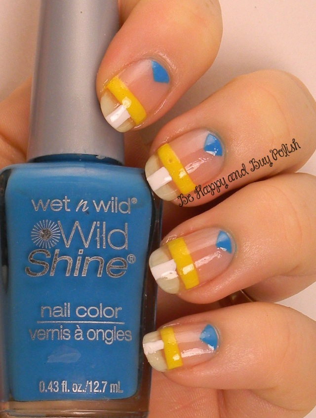 OMD2 Nail Art Negative Space | Wet n Wild A Blank Canvas, Here Comes Trouble, A Venice Day | Be Happy And Buy Polish http://wp.me/p3n4zP-1oM