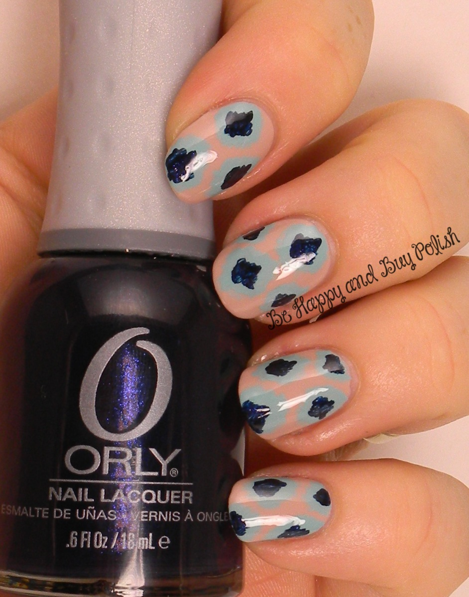 OMD2 ikat design | Orly Dare to Bare, Gumdrops, Star of Bombay | Be Happy And Buy Polish
