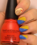 OMD2 Nail Art Outdoors | Sinful Colors Red Tired, Rain Rubber, Face the Facets, Zoya Godiva | Be Happy And Buy Polish