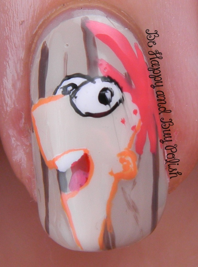 OMD2 Nail Art Phineas and Ferb   Be Happy And Buy Polish