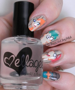 OMD2 Nail Art Phineas and Ferb | Be Happy And Buy Polish