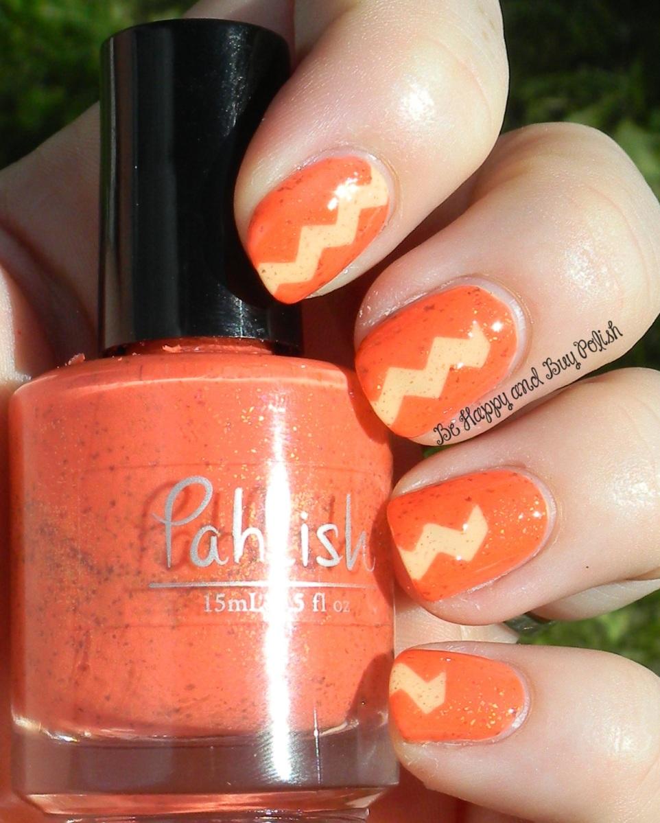 OMD2 Nail Art Challenge: Shimmer   Pahlish Nine Names, Mauna Loa   Be Happy And Buy Polish