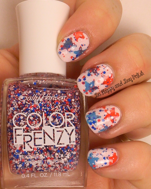 Sally Hansen Red White & Hue | 4th of July nail art | Be Happy And Buy Polish