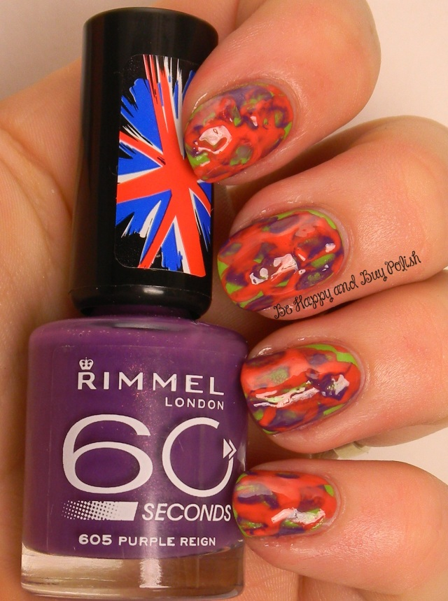Rimmel London Big Green Eyed Monster, Hot Chilli Pepper, Purple Reign | Spoon Nail Art | Be Happy And Buy Polish