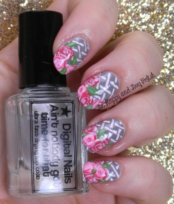 Basket and Rose Nail Art | Be Happy And Buy Polish