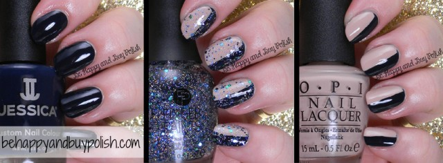 Jessica Cosmetics Blue Aria collage | Be Happy And Buy Polish