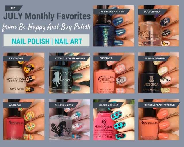 July favorite nail polishes and nail art | Be Happy And Buy Polish