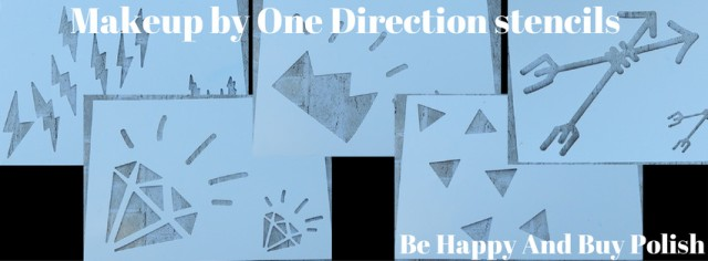 Makeup by One Direction stencils | Be Happy And Buy Polish
