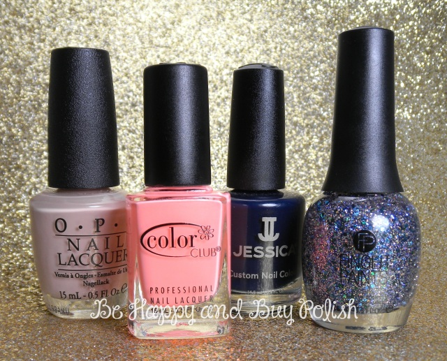OPI Don't Pretzel My Buttons, Color Club East Austin, Jessica Blue Aria, FingerPaints Peacock Portrait | Be Happy And Buy Polish
