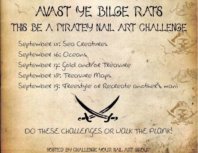 Pirate Nail Art Challenge | Be Happy And Buy Polish