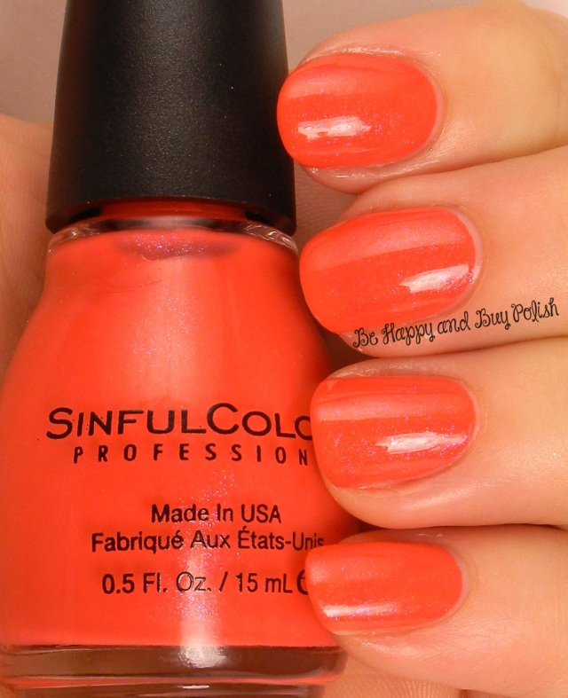 Sinful Colors Coral Riff | Be Happy And Buy Polish