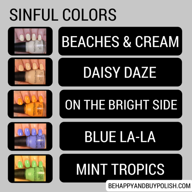 Sinful Colors Creme polishes | Be Happy And Buy Polish