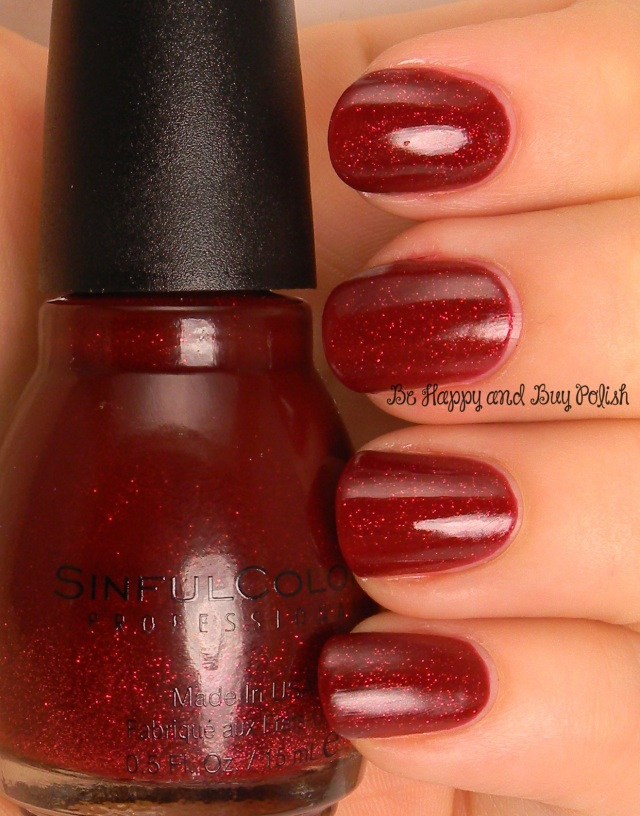 Sinful Colors Ruby Glisten | Be Happy And Buy Polish