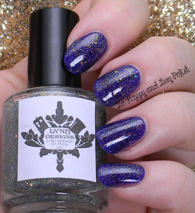 LynBDesigns Yukon Gold over Verity Deep Violet | Be Happy And Buy Polish