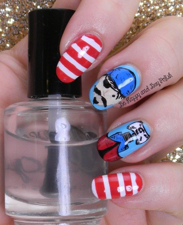 Pirate Nail Art | Be Happy And Buy Polish