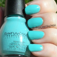 Sinful Colors Teal the End swatch + review