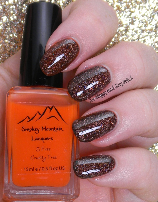 Smokey Mountain Lacquers Scarecrow Blood, SOPI If You've Got It Haunt It | Be Happy And Buy Polish