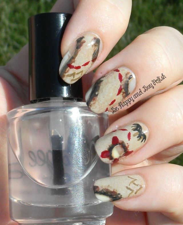 Treasure Map Nail Art | Be Happy And Buy Polish