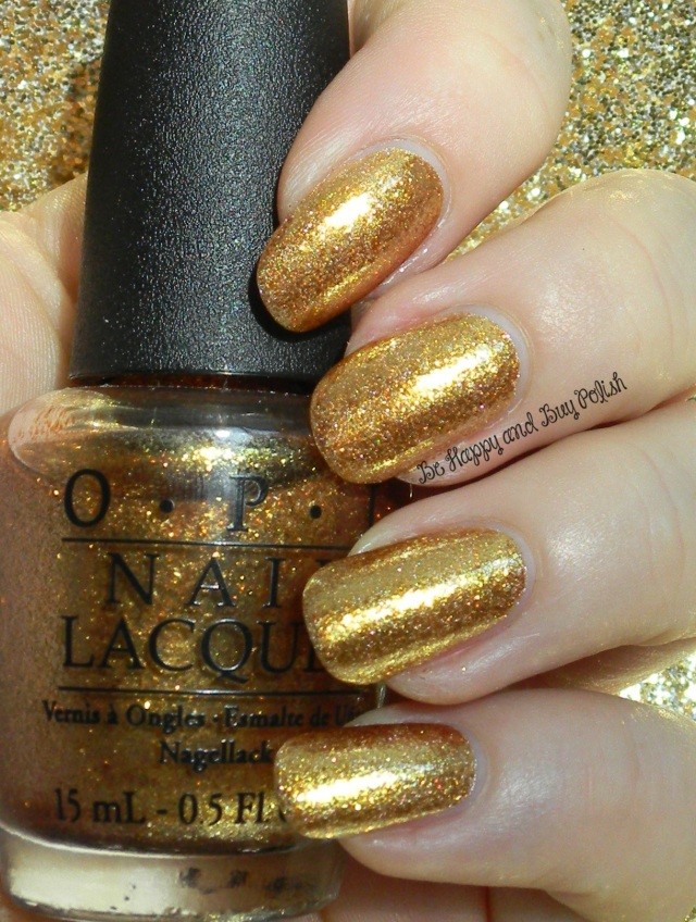 Treasure Nails | OPI L.A.M.B., OPI Goldeneye |  Be Happy And Buy Polish