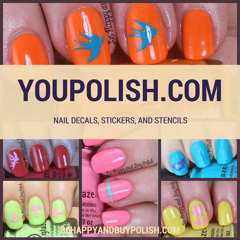 YouPolish Nail Decals, Stickers, and Stencils Review | Be Happy and ...