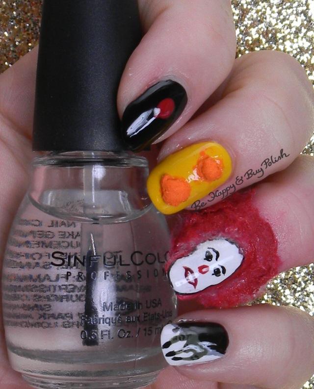Halloween It the Movie nail art | Be Happy And Buy Polish