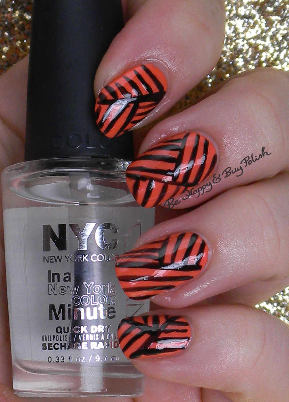 Halloween Nail Art Challenge: Classic Orange & Black | Be Happy and ...