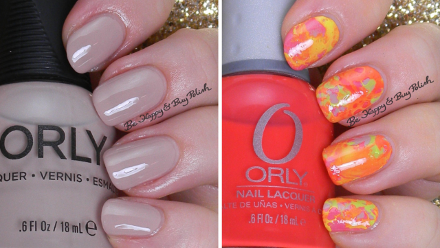 Orly Dare to Bare, Glowstick, Passionfruit | Be Happy And Buy Polish