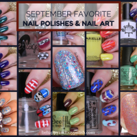 September Favorite Nail Polishes + Nail Art