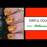 Sinful Colors Halloween Glitter nail polishes