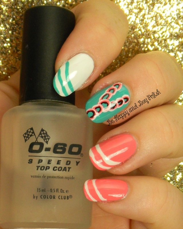 Swoopy Nail Art   Be Happy And Buy Polish