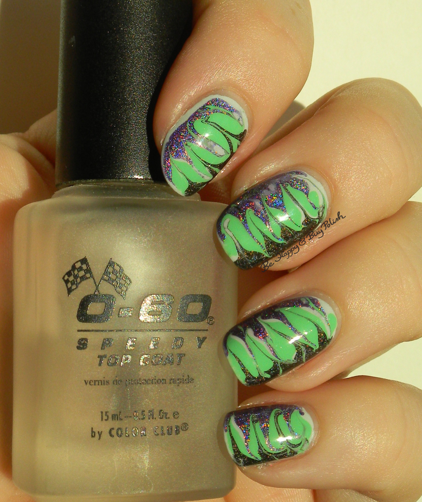 Color Club Holo Needle Drag Manicure   Be Happy and Buy Polish