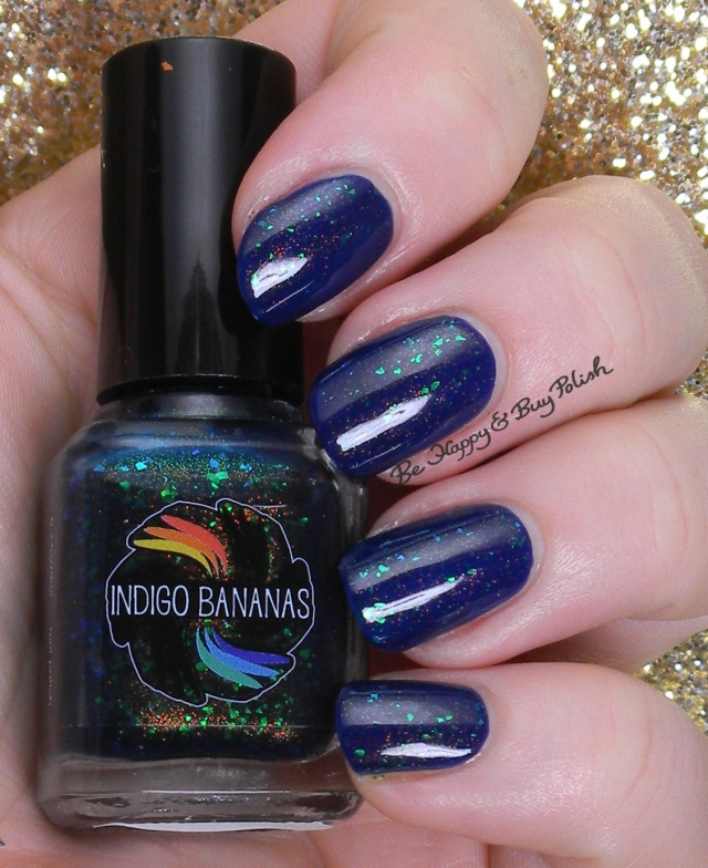 Indigo Bananas Acid Ocean over OPI Eurso Euro | Be Happy And Buy Polish