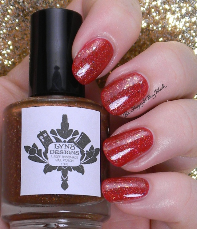 LynBDesigns Spot the Cuttlefish over Verity Hot Red | Be Happy And Buy Polish