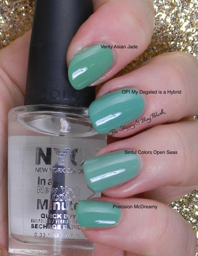 OPI My Dogsled is a Hybrid comparison | Be Happy And Buy Polish