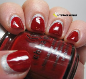 A England Encore Margot, China Glaze Phat Santa | Lit From Within