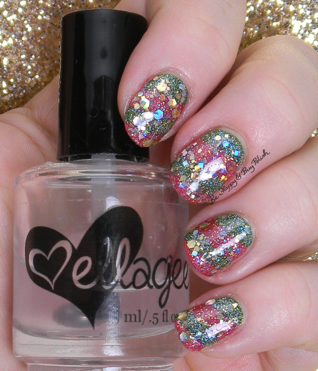 Christmas Nails With Glitter: 12 Days Of Christmas Nail Art: Glitter