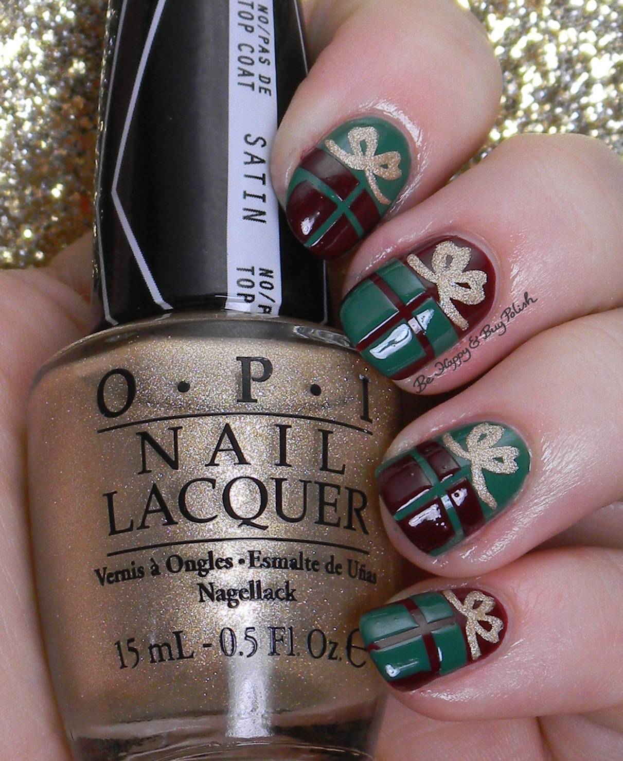 12 Days of Christmas Nail Art: presents | Be Happy and Buy Polish