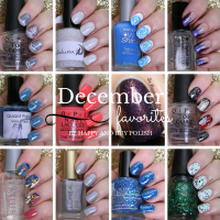 December Favorite Nail Polishes + Nail Art