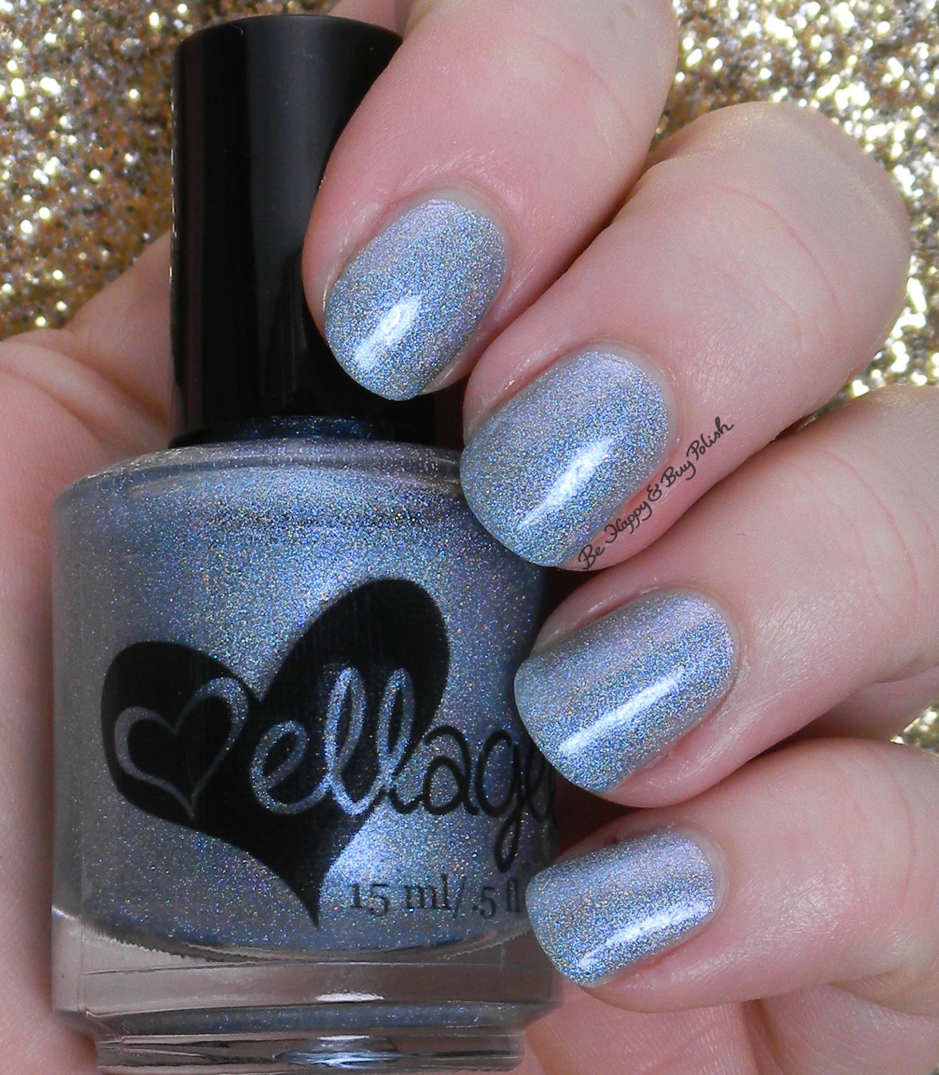 12 Days of Christmas Nail Art: Ice Blue and White + Ellagee ELL-sa ...