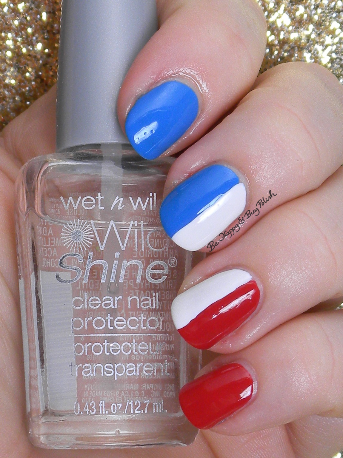 12 Days of Christmas Nail Art: 3 French Hens | Be Happy and Buy Polish