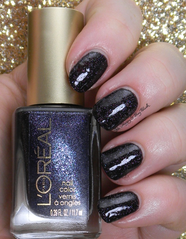 L'Oreal Bad Bad Grey with topcoat | Be Happy And Buy Polish