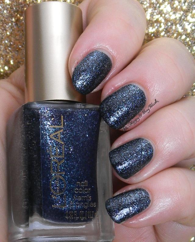 Loreal Nail Polish Swatches: L'Oreal Dark Sides Of Grey Nail Polishes Swatches + Review