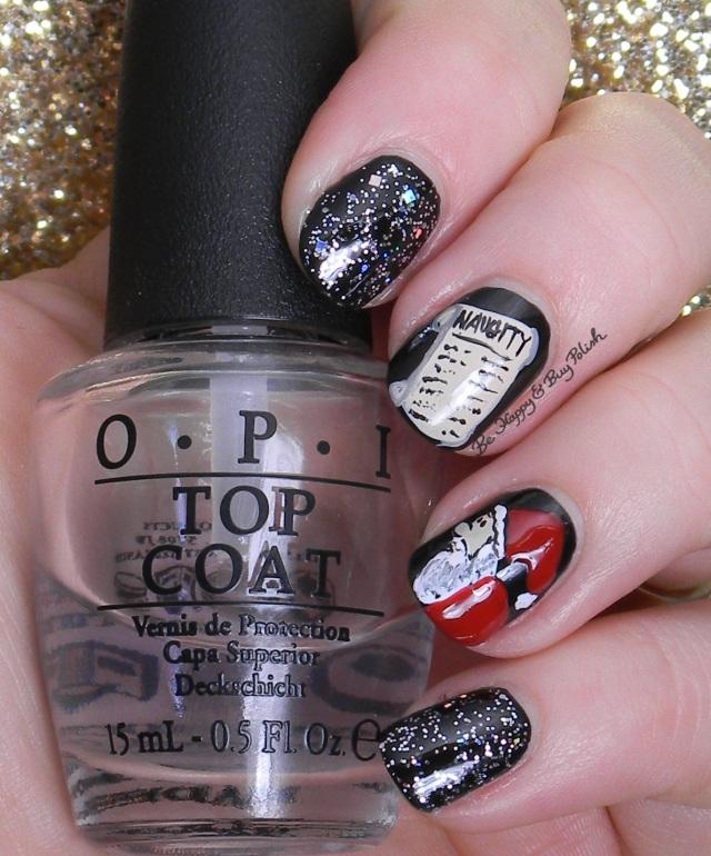 Santa Claus and the Naughty List nail art | Be Happy And Buy Polish